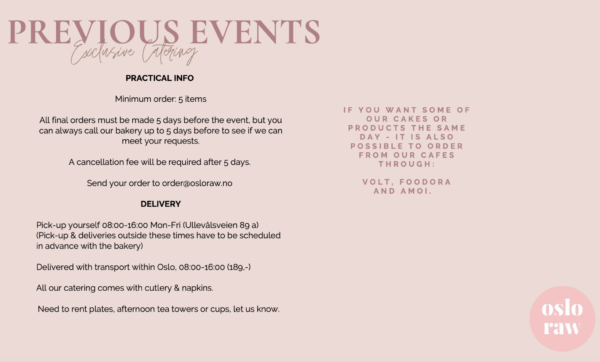 Catering & Events PREVIOUS1